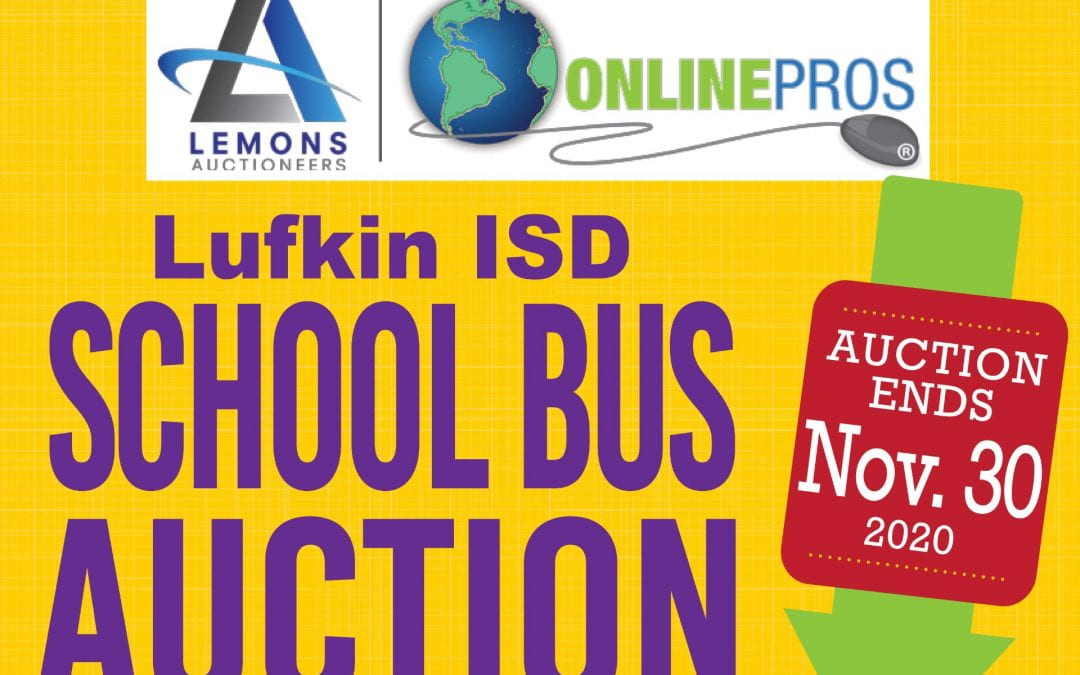 Lufkin ISD school bus auction now open
