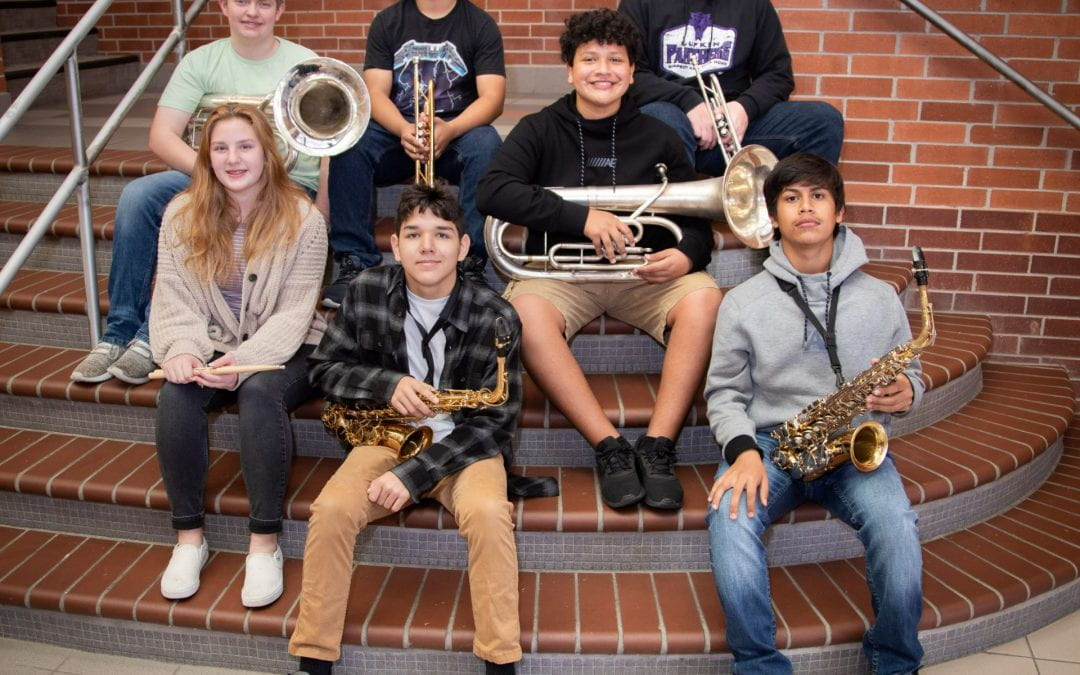 Lufkin Panther Band students earn spot in the TMEA Region 21 Freshman All-Region Band