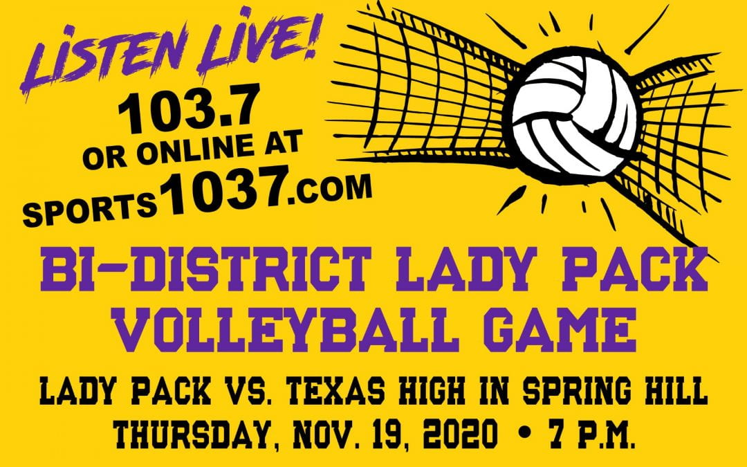 Listen Live to Lady Pack volleyball tonight