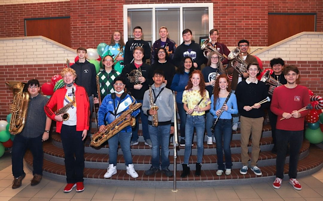 Members of LHS Panther Band earn spot in TMEA Region 21 All-Region Band