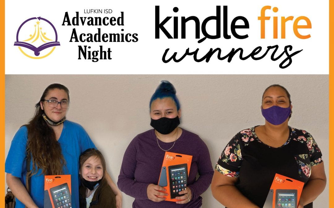 Congrats to the Kindle Fire winners from Advanced Academics virtual event