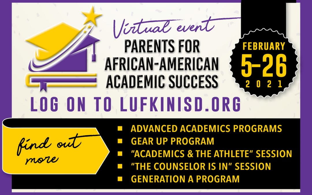 Save the Date: Feb. 5 – 26 Parents for African-American Academic Success virtual event