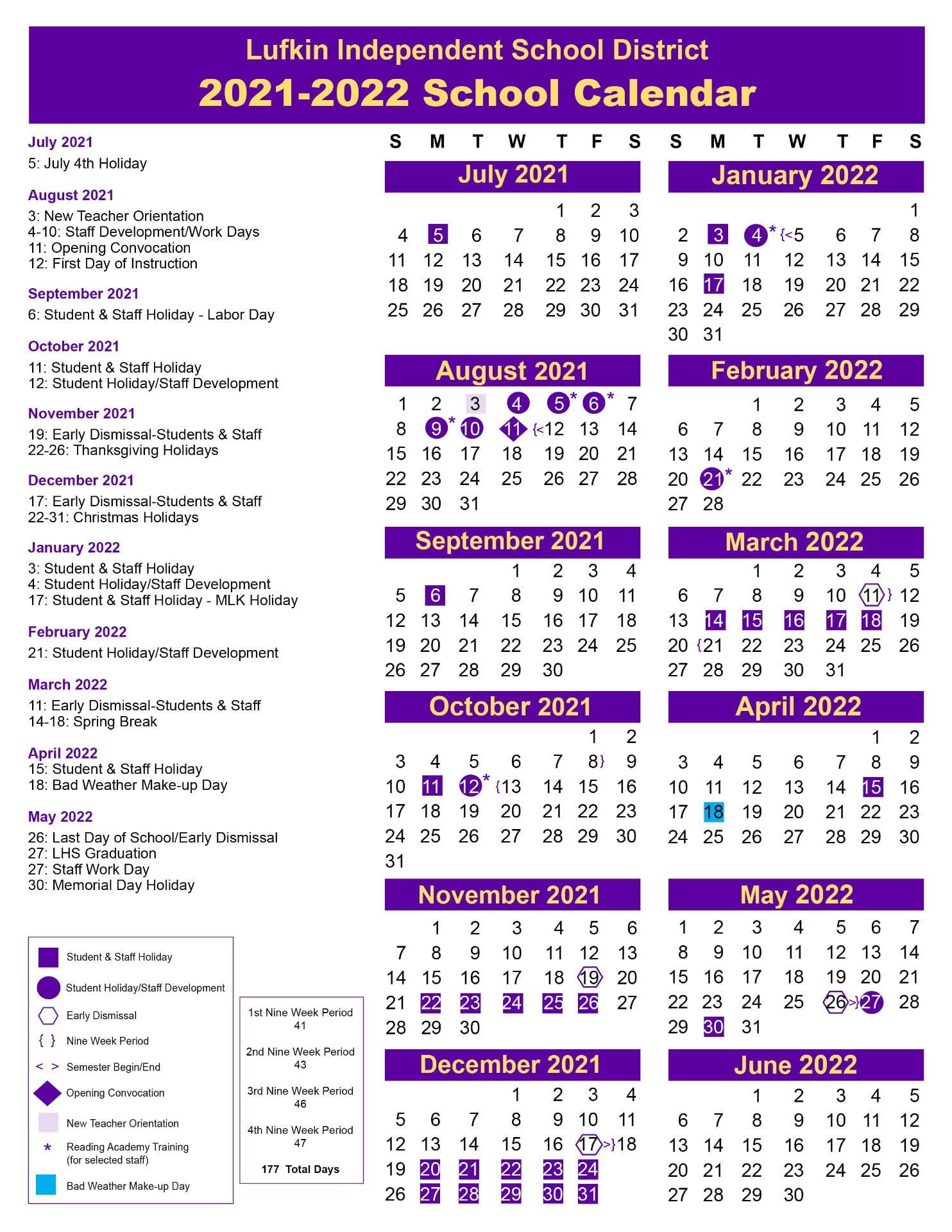 Lisd Calendar 2022.Lufkin Isd School Board Approves 2020 21 Academic School Calendar Lufkin Isd