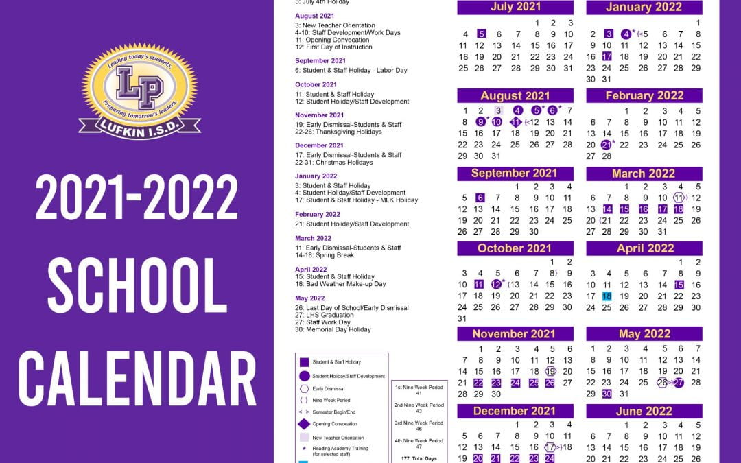 Lufkin ISD school board approves 2020-21 academic school calendar
