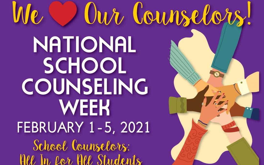 Thank you School Counselors! All in for All students!!