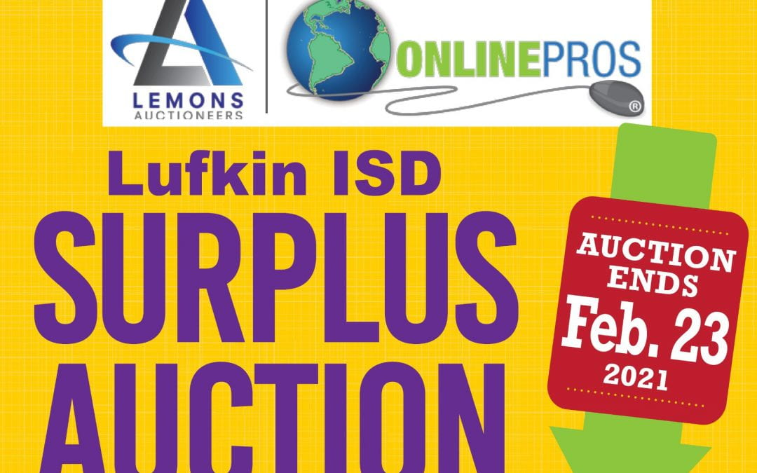 Lufkin ISD having a surplus auction of cafeteria and custodial items
