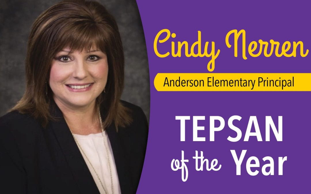Nerren named TEPSAN of the Year by the Texas Elementary Principals and Supervisors Association