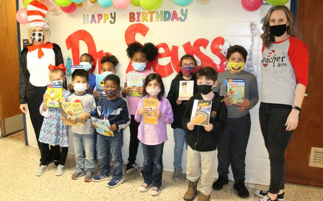 Trout Primary celebrates Read Across America Day with book giveaway