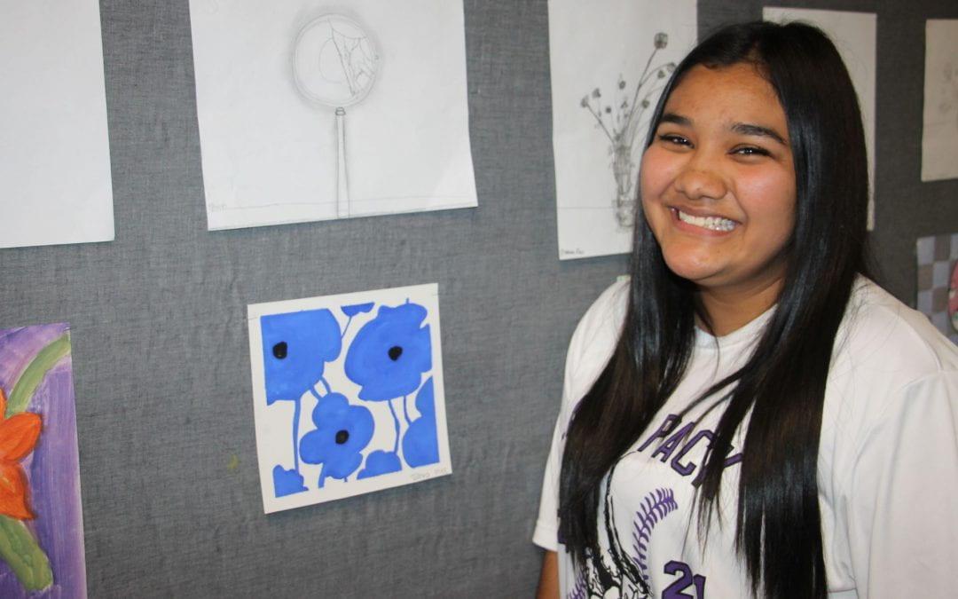 Dual Credit and ECHS Art Appreciation students put on art show