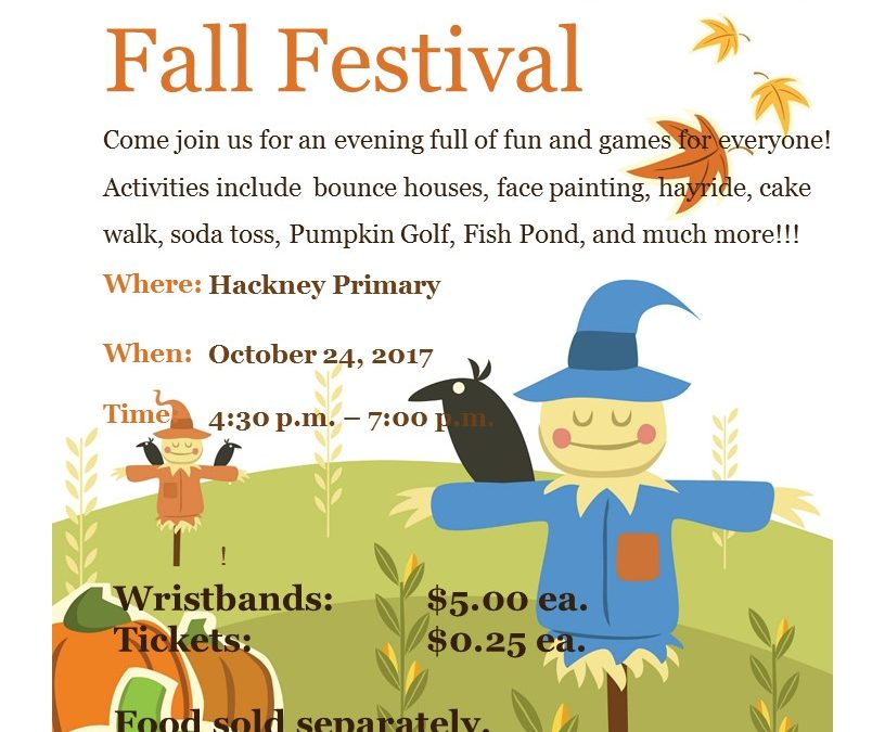 Garrett and Hackney Primary Fall Festival set for 4:30-7 p.m. Oct. 24