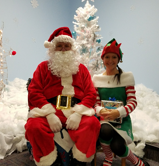 December 7th brought Santa and an Elf to Garrett Primary!