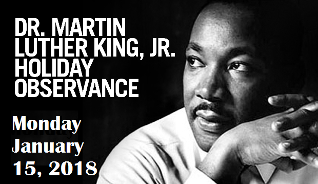 No School Monday January 15 2018 Observance Of Dr Martin
