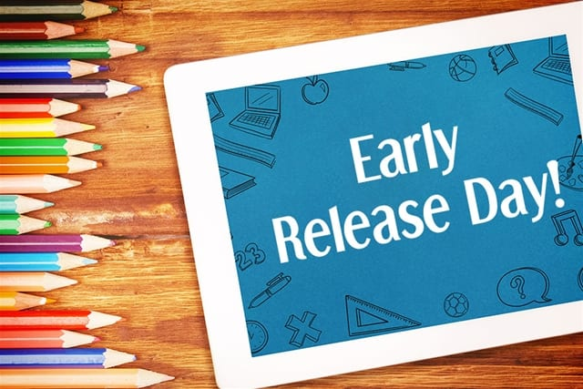 11 a.m. Early Release Wednesday, December 19, 2018