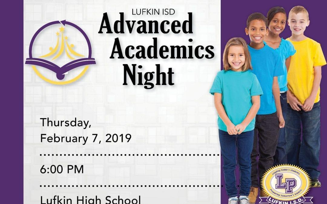 Advanced Academics Night, February 7, 2018