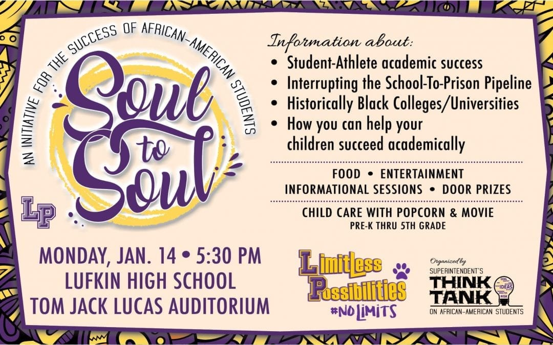 Soul to Soul Event at LHS, Monday, January 14, 2018.