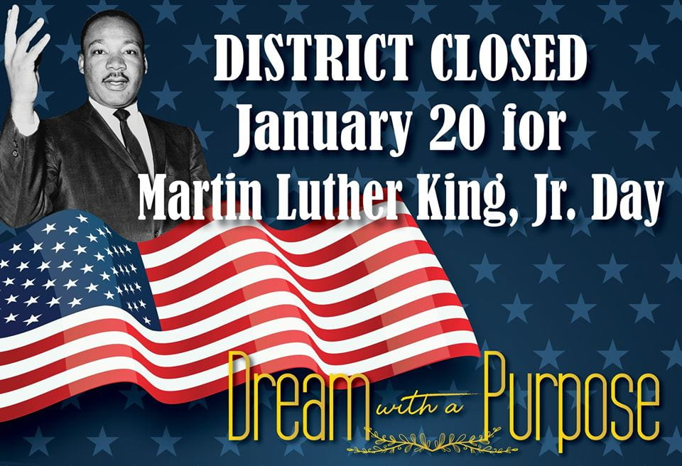 No School January 20 in Observance of MLK Day