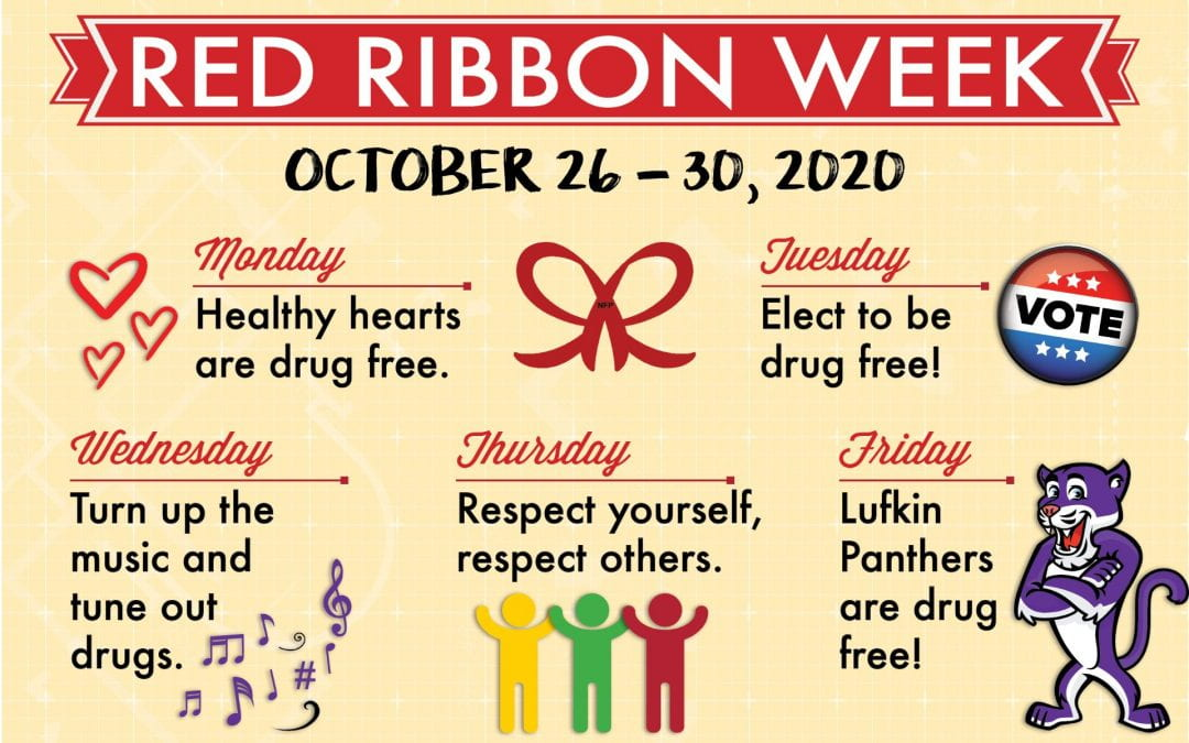 Red Ribbon Week! October 26-30 Read more to see list of activities for week!