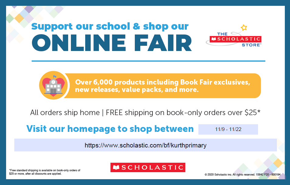 Scholastic Online Book Fair 11/9-11/22 Read more to find out how!