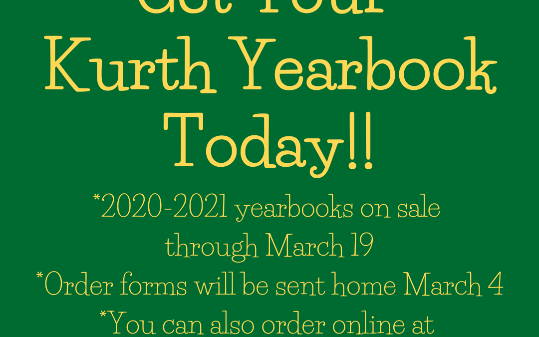 Yearbooks on Sale! Don't miss out!