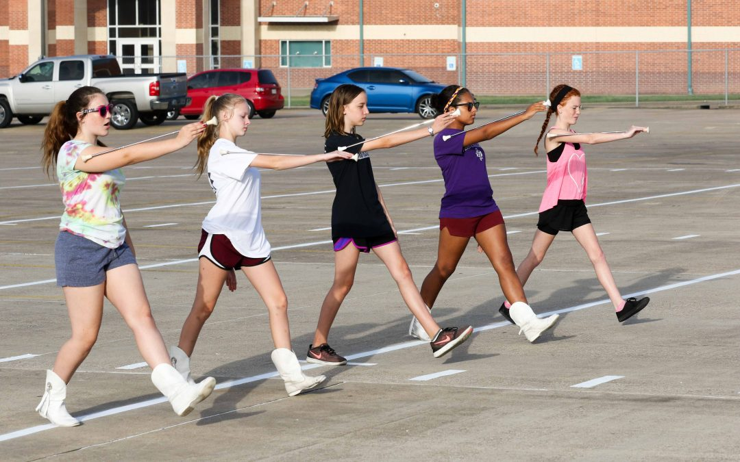 Panther Band names new drum majors, Majorettes