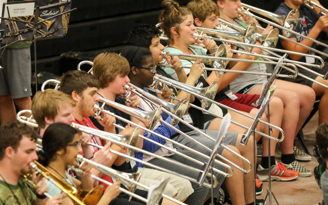 Panther Band goes camping to get ready for new school year