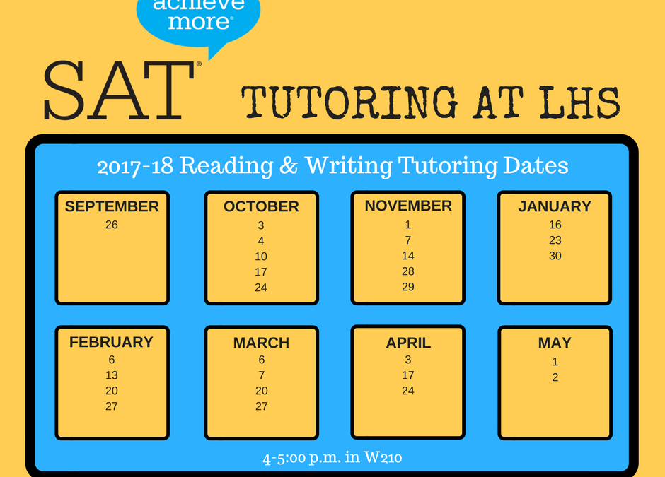 Tutoring Available for the SAT
