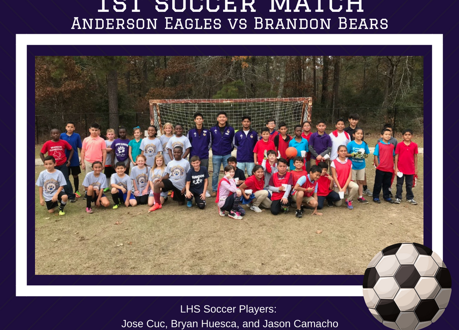 LHS Soccer Players Officiate Elementary Game