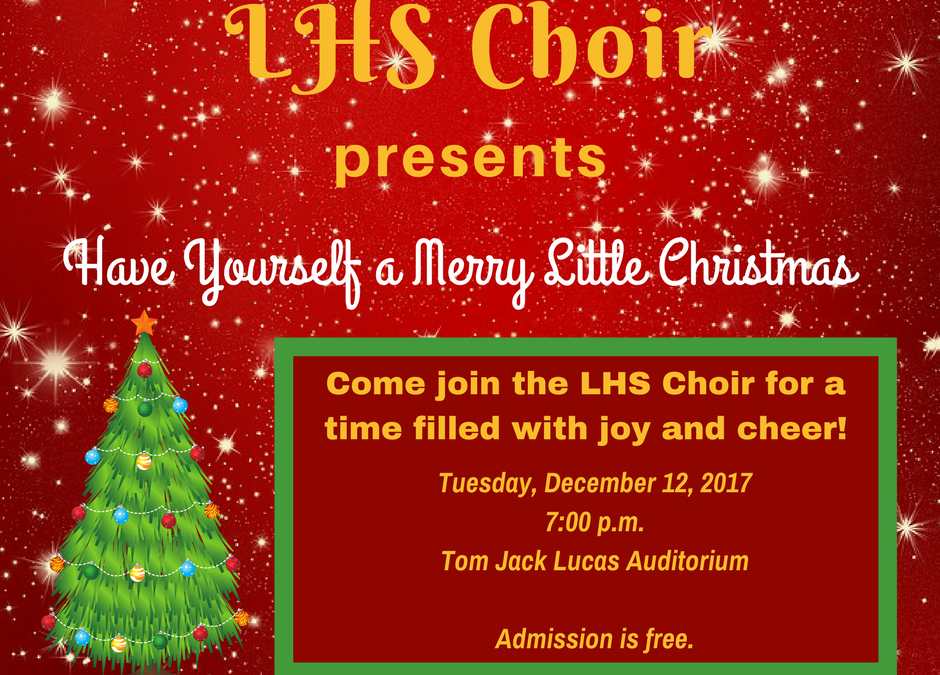LHS Christmas choir concert scheduled for Tuesday night