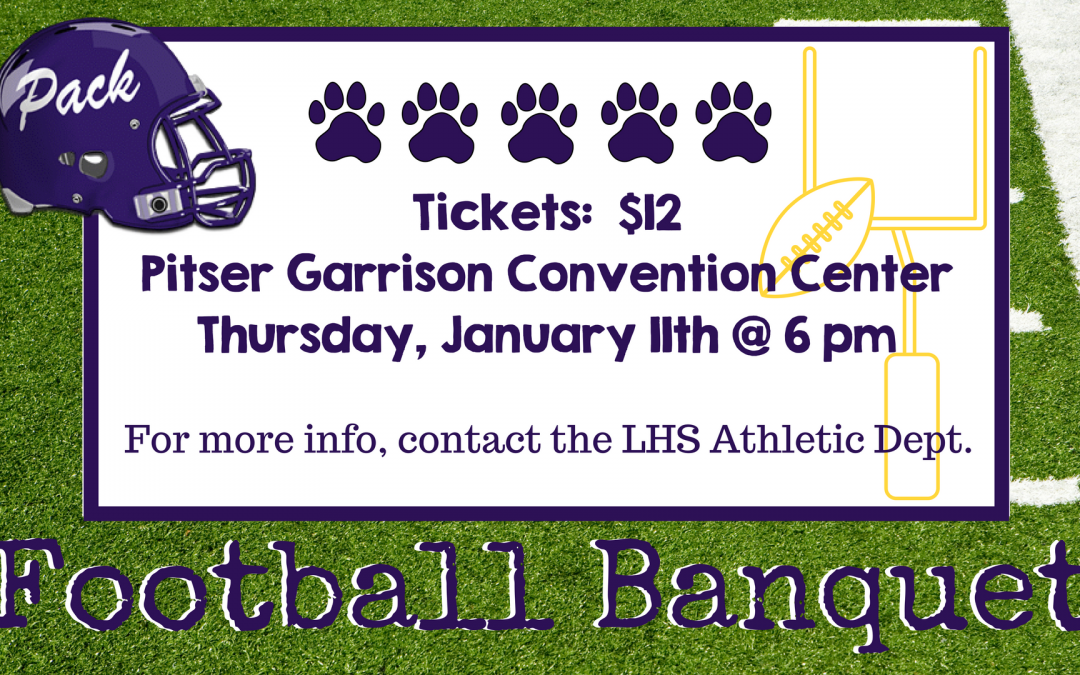Get your tickets to the Football Banquet