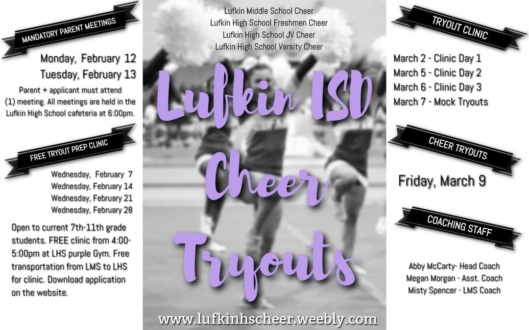 2018 Cheer Tryout Info