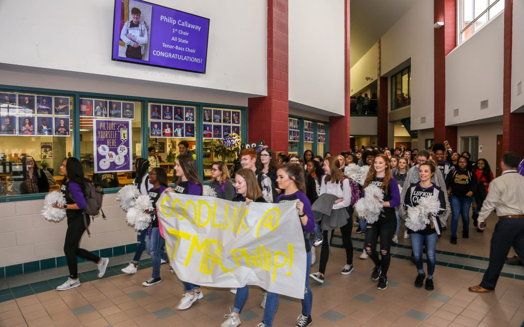 LHS Students and Staff Send Off Choir Student to State Competition