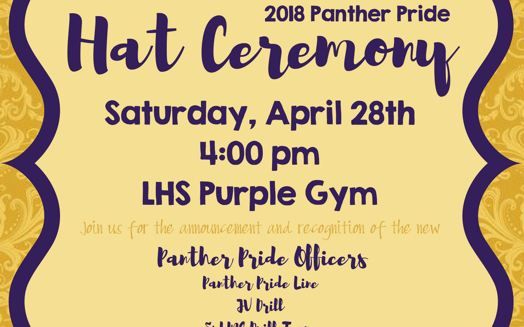 Join us for Panther Pride's Hat Ceremony