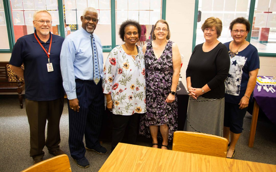 Staff Class of '18: Lufkin High School honors its retirees with reception in library