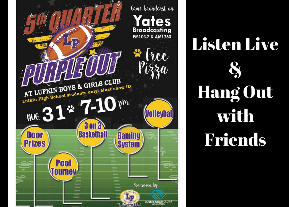 5th Quarter – Friday, August 31st
