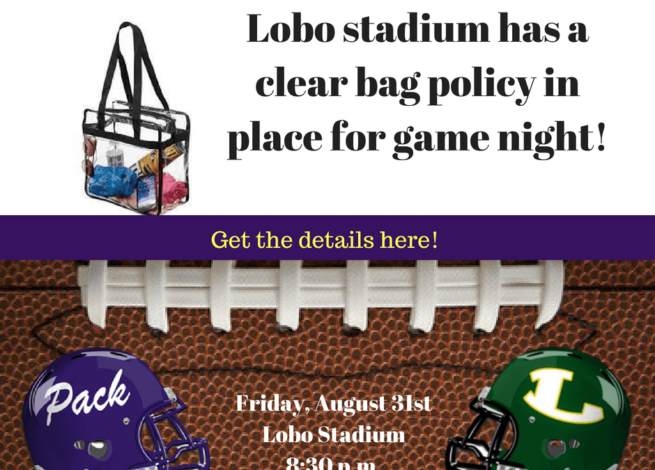 Lobo stadium has a clear bag policy in place for game night