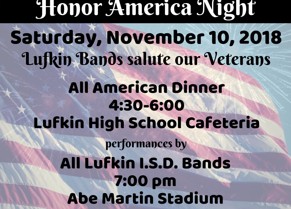 Join us for our traditional Honor America Night