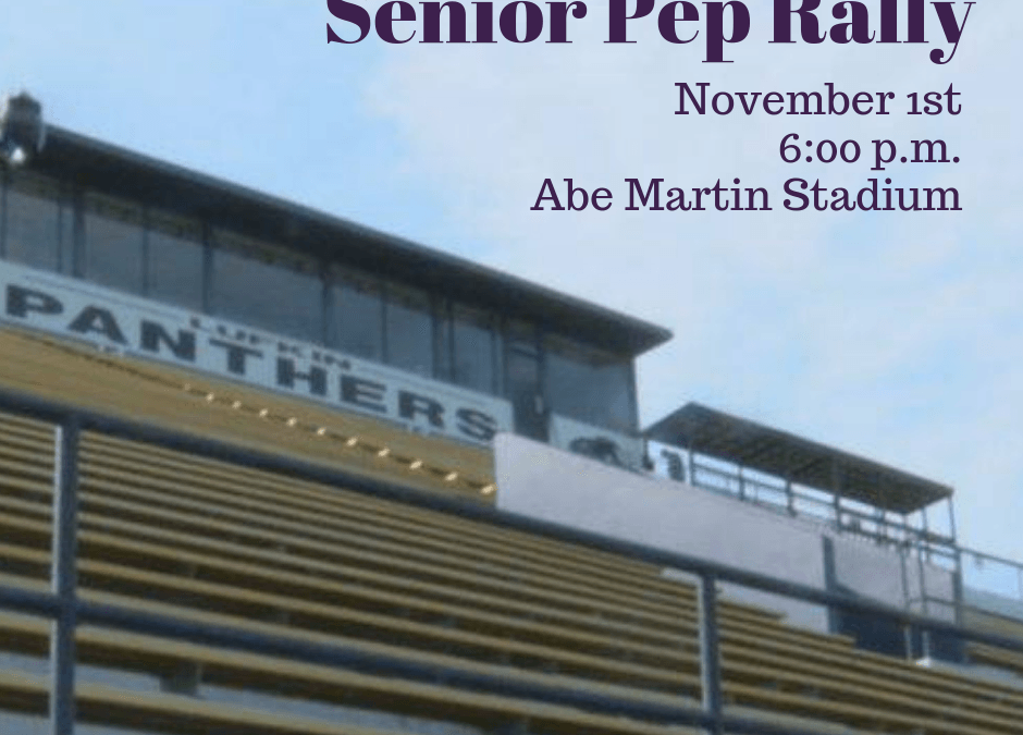Senior Pep Rally – November 1st