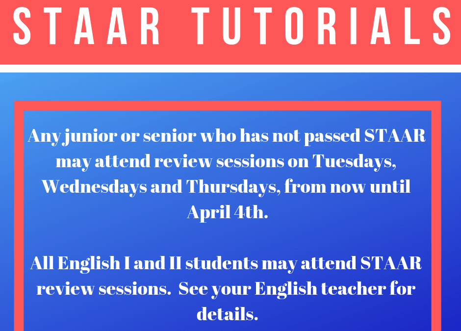 STAAR Tutorials:  English I and II