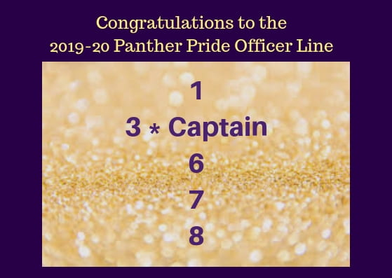 And congratulations to the new 2019-20 Panther Pride Officer line
