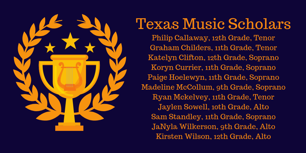 Congratulations to these Texas Music Scholars
