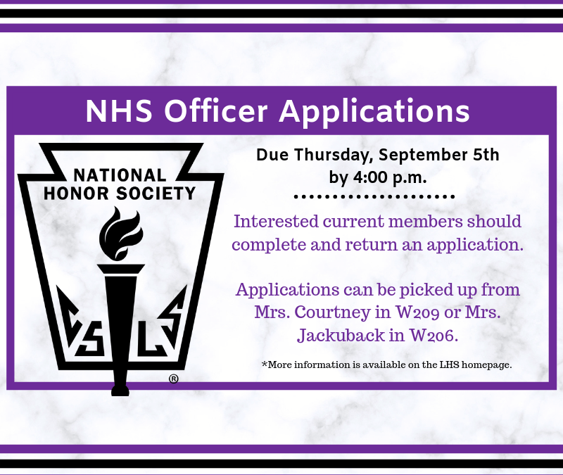 National Honor Society – Officer Applications