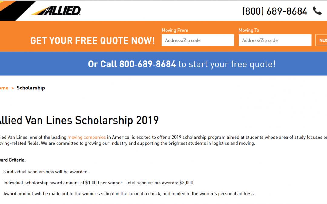 Allied Van Lines Scholarship