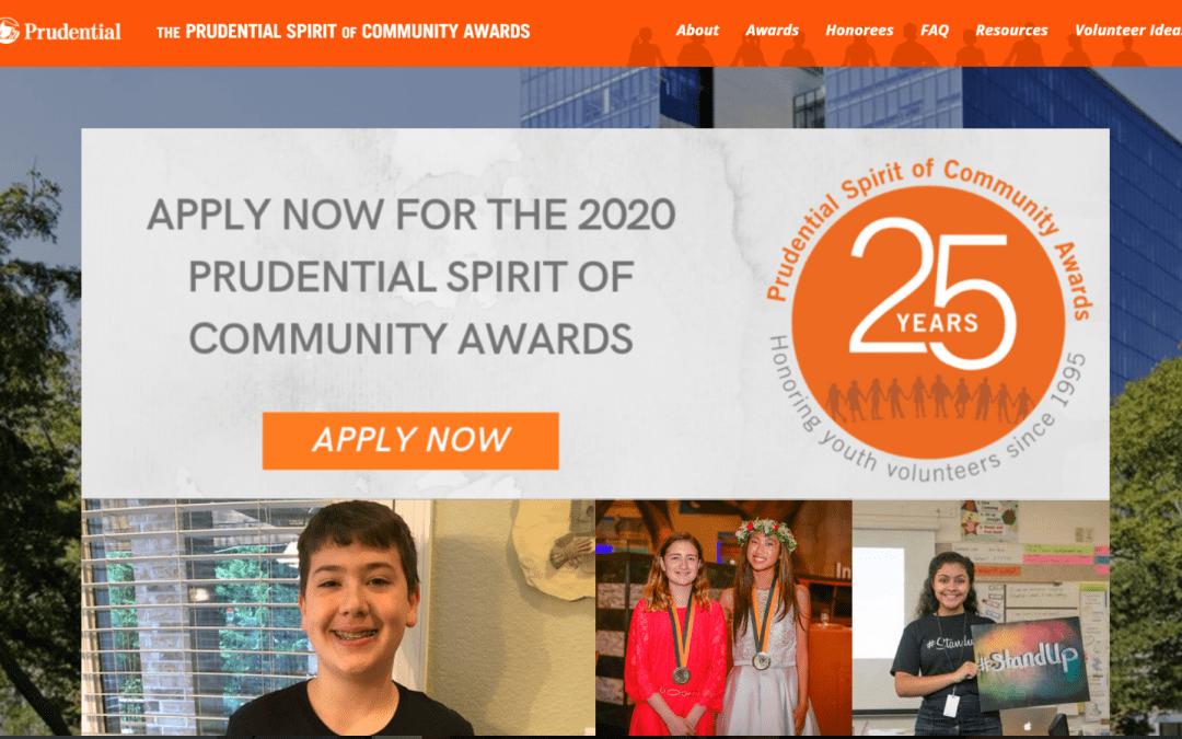 Prudential Spirit of Community Awards