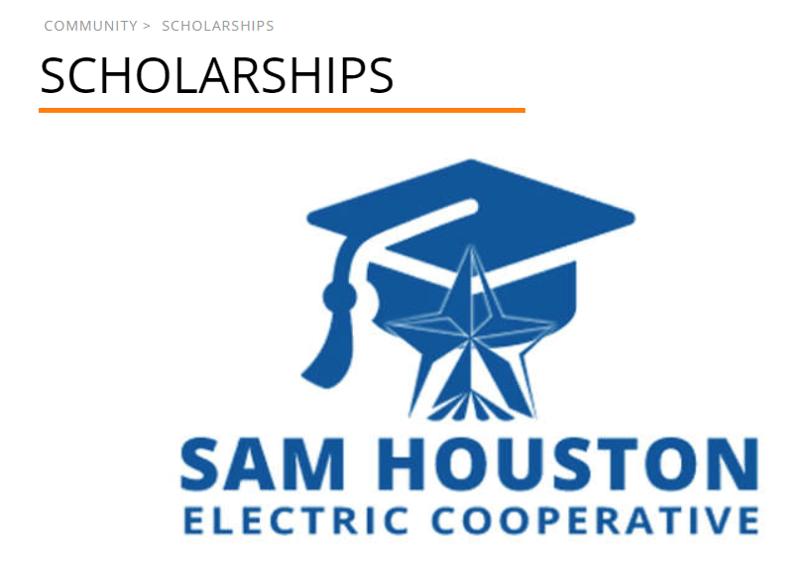 Sam Houston Electric Cooperative Scholarship