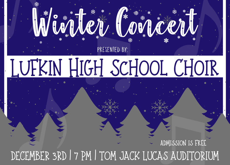 LHS Choir presenting their Winter Concert
