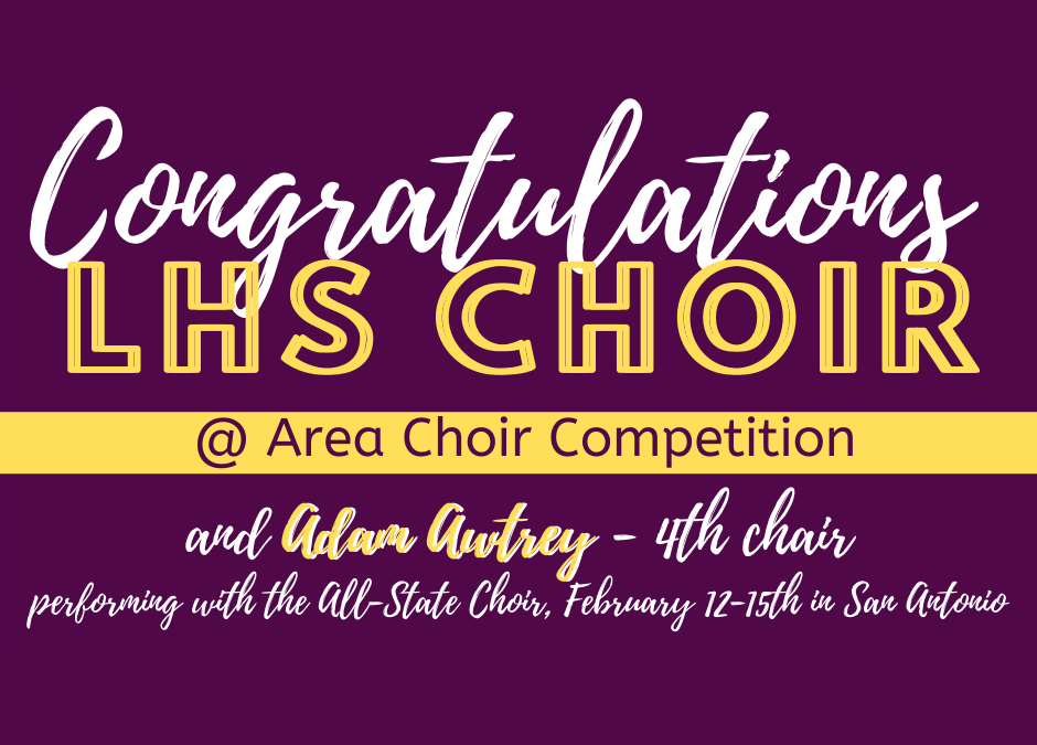 Congrats to LHS Choir