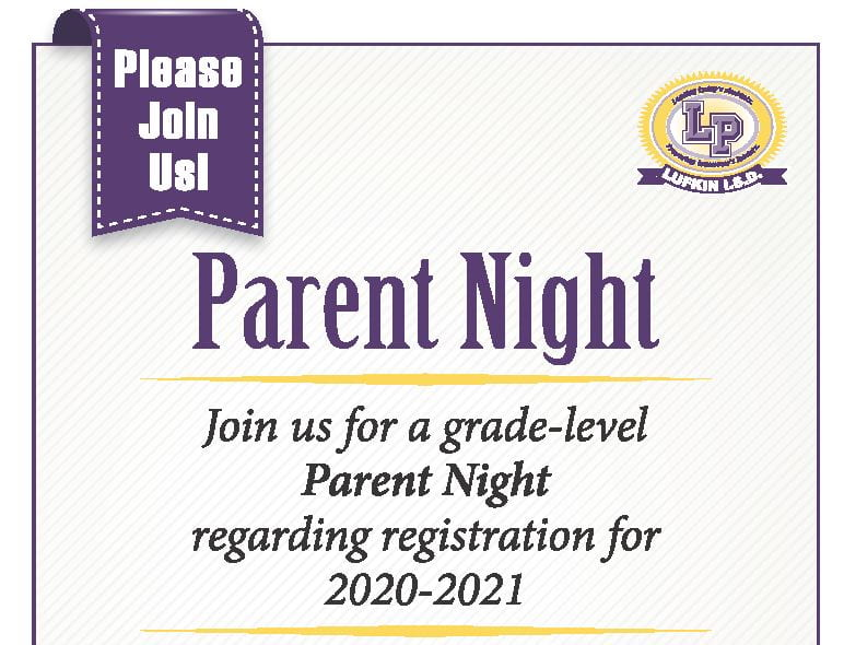 Looking Ahead:  Parent Nights Scheduled