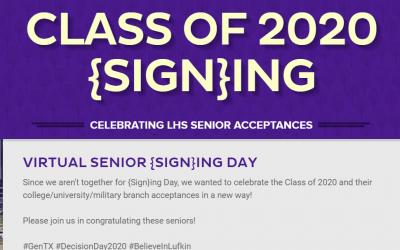Virtual Senior {Sign}ing