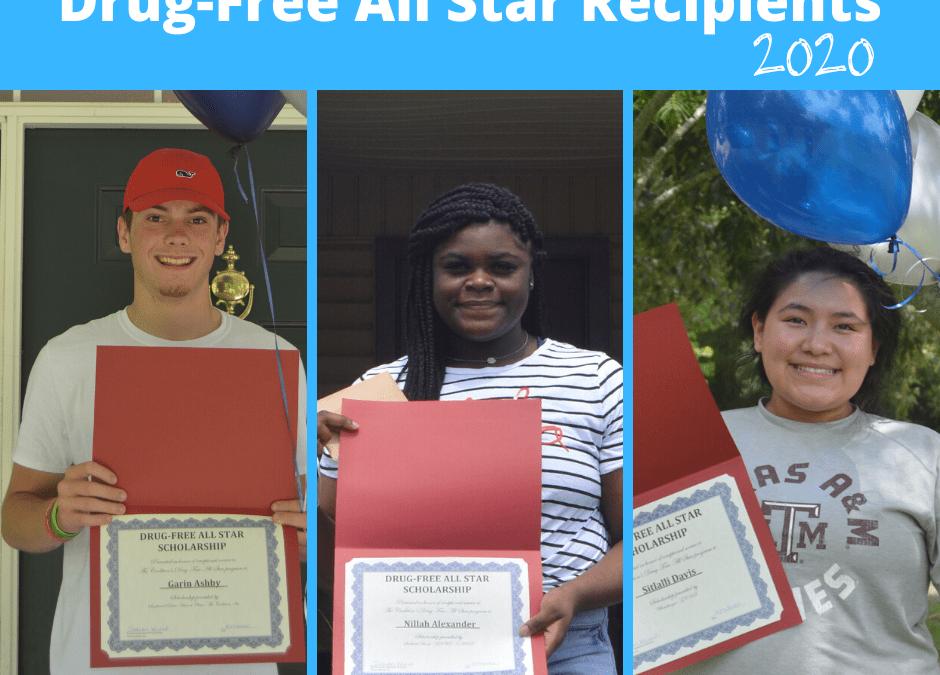 Drug-Free All Star Scholarship Recipients