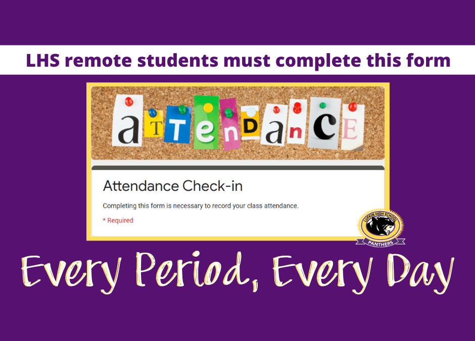 Attendance:  Every day.  Every class period.